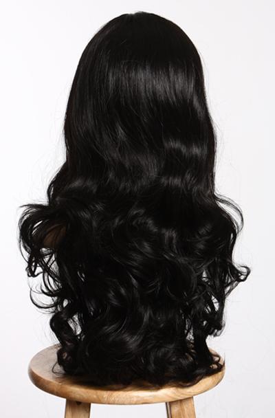 65cm sogno riccioli medio corona nero parrucca wig ebay. Black Bedroom Furniture Sets. Home Design Ideas